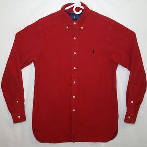 Polo Thick Button Down Long Sleeve Shirt Medium